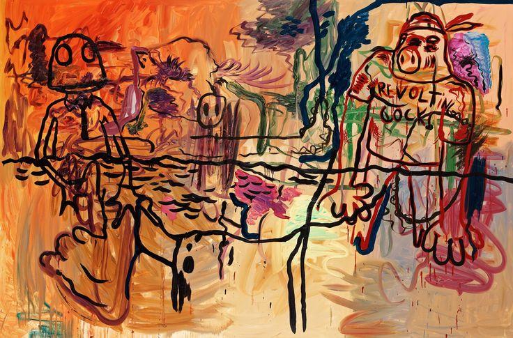 Bjarne Melgaard (Norwegian, b. 1967), Untitled, 2006. Oil on canvas, 200 x 300 cm.