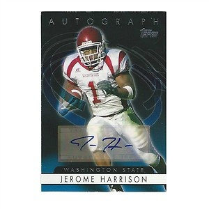 Jerome Harrison Autographed 2006 Topps Football Card #autograph #card #football