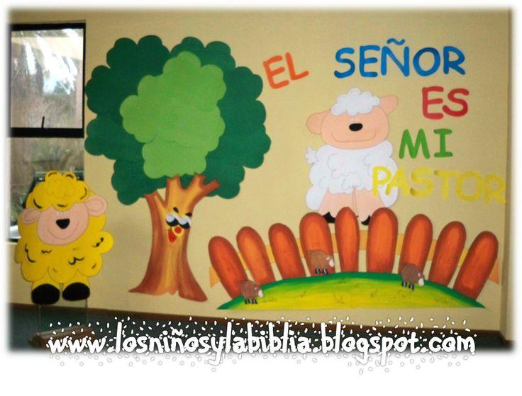 Los niños y la Biblia: Mural Salmo 23.