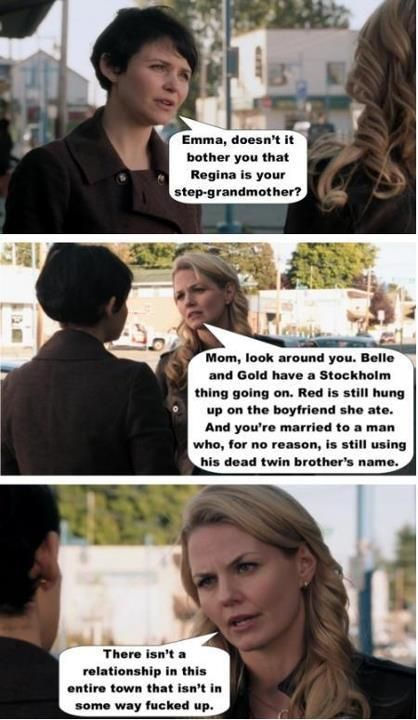 someone created this fantastic set after the twit by ginny saying why swanqueen was a no-go (dont own any of this just sharing the love!