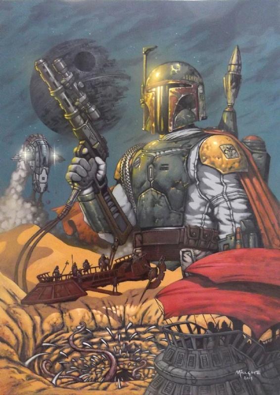 Star Wars - Boba & The Sarlacc Pit Comic Art | Boba Fett ...
