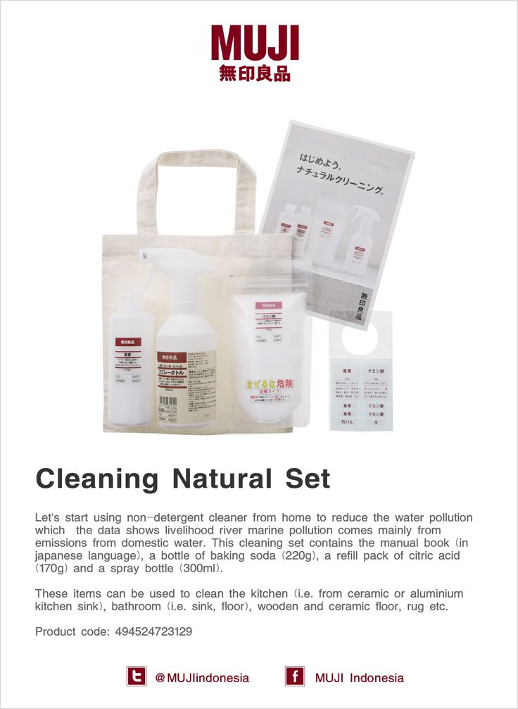 [Cleaning Natural Set] Let's start using non-detergent cleaner from home to reduce the water pollution.