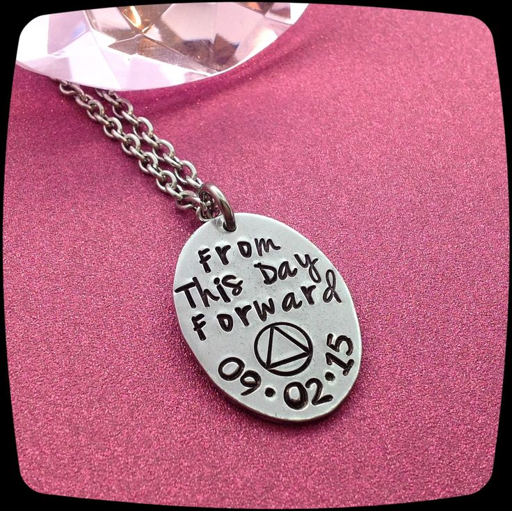 Sobriety Gift, From This Day Forward, Sobriety, Addiction Recovery Necklace, Sobriety Date Jewelry by ThatKindaGirl on Etsy