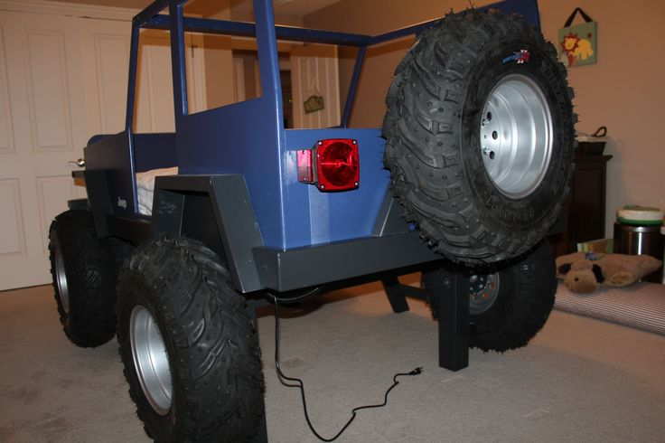 Jeep Bed Kids Jeep Bed Working LED Lights Real Tires And