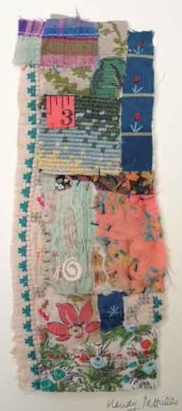 Textile Collage Strippy unframed by MandyPattullo on Etsy