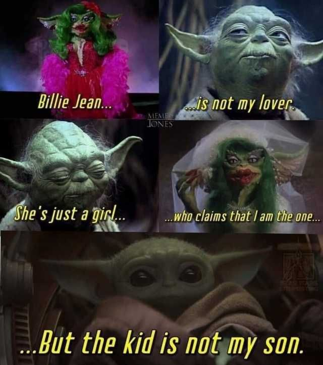 It S Not Baby Yoda Imgur Funny Star Wars Memes Star Wars Humor Star Wars Jokes