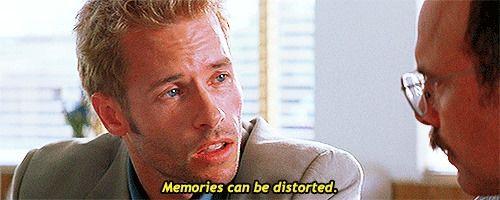 Memories can be distorted. Memento (2000)