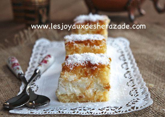 Basboussa à la crème , chhiwat ramadan - Les joyaux de sherazade : Recettes de cuisine algerienne et de monde.