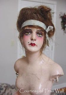 Frau Wulf's Boudoir Doll Blog: Dolls made of chalk or composition and covered with wax.
