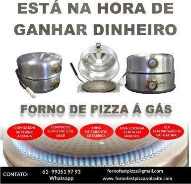 Forno de pizza á gás