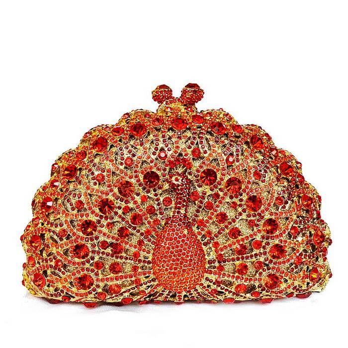 Evening+Purses | Crystal Peacock Clutch Evening Bag (DM8105) - China Peacock Evening ...