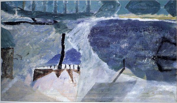 """Piotr Potworowski, 1959/60, """"Fragment of Lagowo Lake"""""""