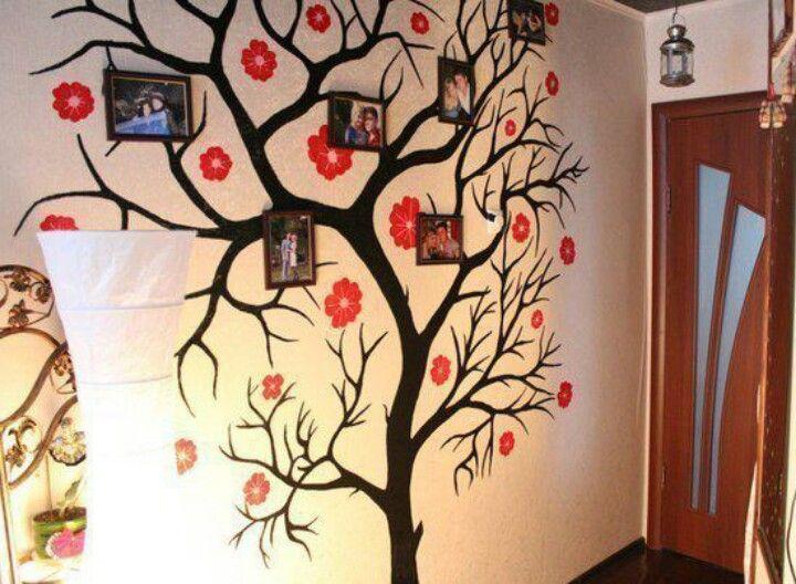 Wall Art Tree Diy : Family tree wall art diy