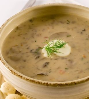 Mushroom soup is incredibly popular and here is such an easy recipe, you can whip it up in under 20 minutes. And if you add some crusty breads and cheese, you may just have a simple but nice little meatless dinner on your hands! Enjoy!