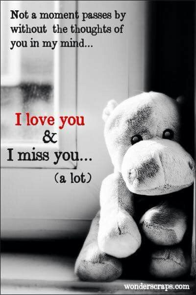 I love you & I miss you  (a lot) L.M.D  April  27-2010
