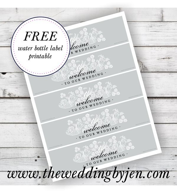 printable water bottle labels free templates great tips on wedding welcome bags and a free water bottle 24086 | 0f0cf2fb49ac4df96d3930ce26d61f3b