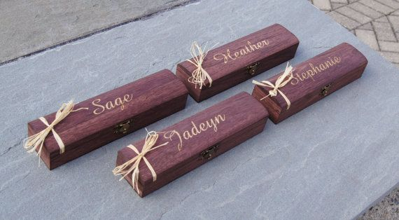 Engraved Jewelry Box Set of 4  Bridesmaid by RiversideBridal77
