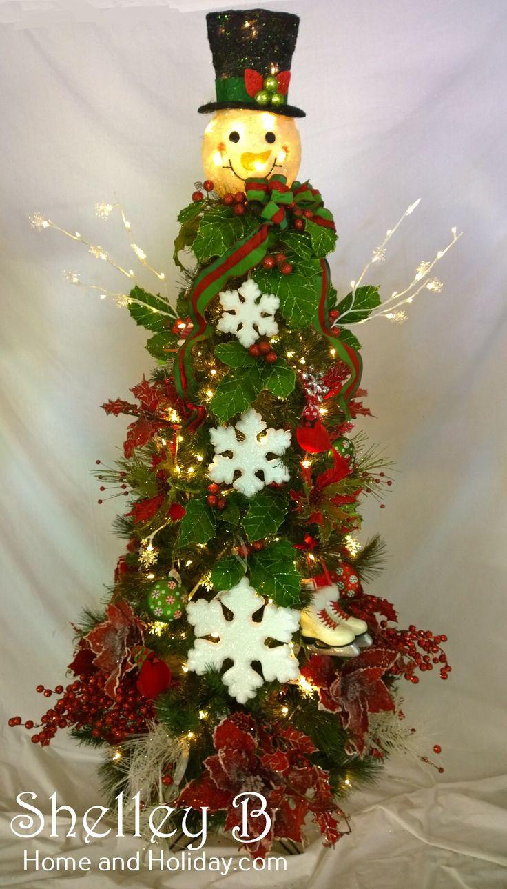 How to make a snowman christmas tree topper - Imagen De Http Cdn6 Bigcommerce Com S 93v26j89 Short Hairchristmas Trees