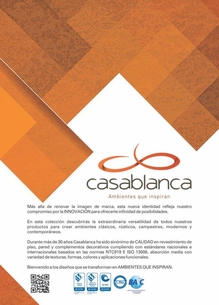 Contamos con gran variedad de pisos, enchapes, tejas y decorados para tu hogar. www.ambientescasablanca.com