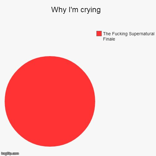 Why I'm crying... The Fucking Supernatural Finale / FUCKING ACCURATE OKAY? I don't like it. Make it stop. :'(