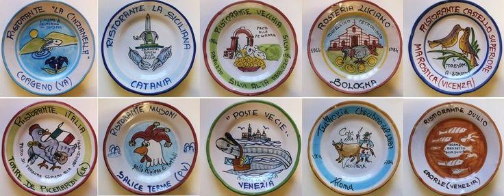 Piatti del buon ricordo - anni 70 / 80 / 90 - lotto 10 piatti 28B - Piatti decorativi Ceramica Solimene Vietri - Italia di Piattidelbuonricordo su Etsy