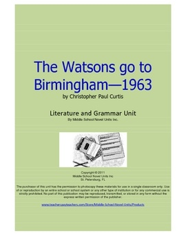 Essay topics for watsons go to birmingham