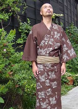 Men's yukata! I love the patterning