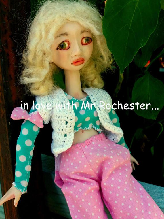 Jane/polymer clay/art/doll/artistic doll/ooak doll/romantic