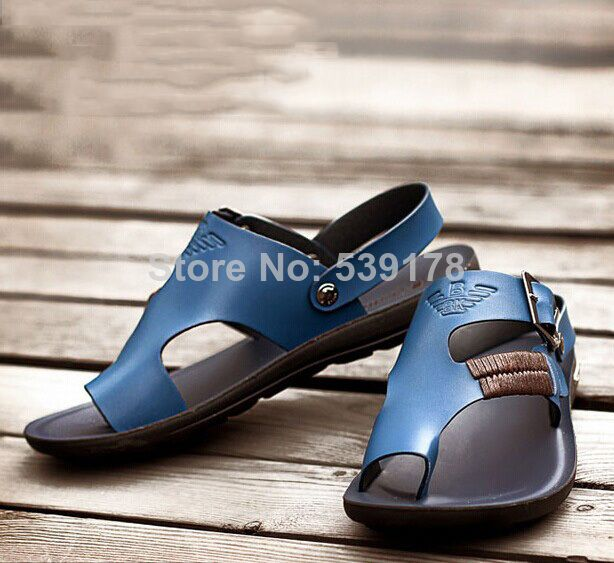 2014 men's sandals the trend of dual-use leather sandals slippers fashion sandals men summer shoes
