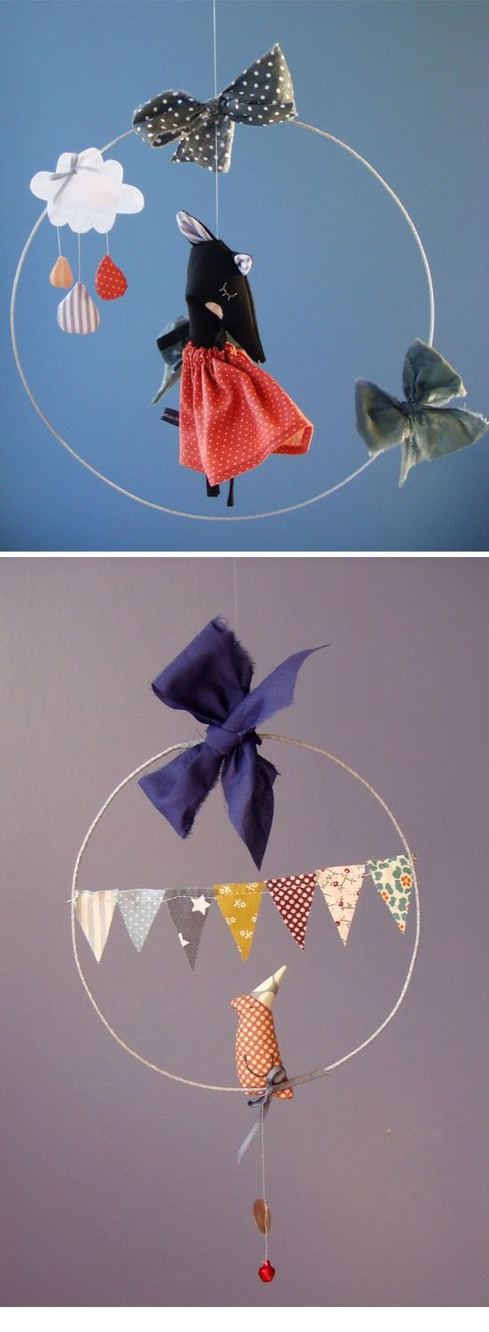 Rose minuscule childrens handmade mobiles