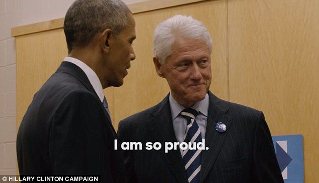 Bill Clinton tells Obama he loved what he said and then they both agree they are proud of ...