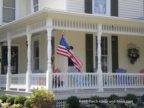 17 best images about porches on pinterest rocking chairs for Front porch pillars design