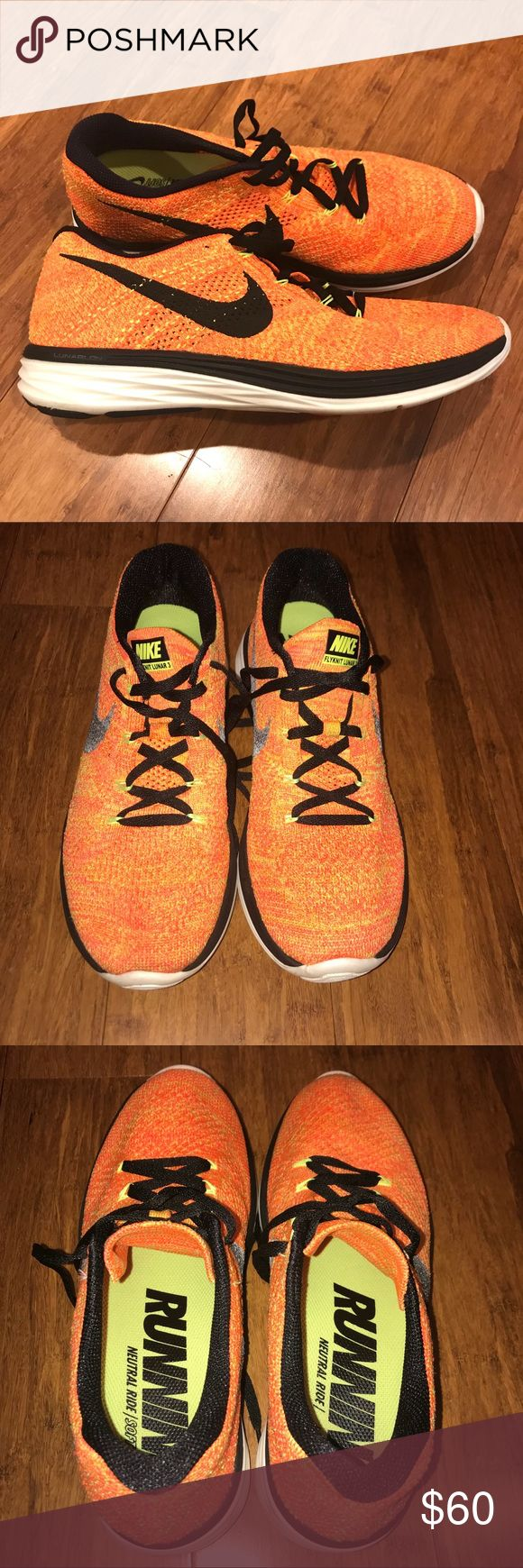 Women's Nike Flyknit Lunar 3 Neutral Running Shoe Women's Nike Flyknit Lunar 3 Neutral Running Shoe Excellent Condition! No Trades Nike Shoes Athletic Shoes