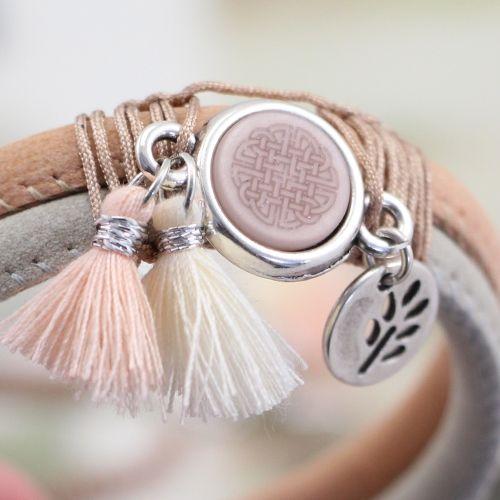 Hip & stoer: armbanden in vrolijke kleuren van gestikt imi leer