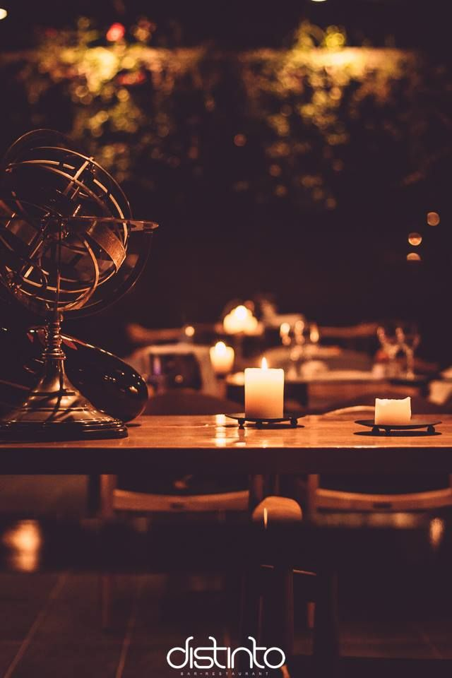 when the atmosphere alone speaks of #distinto #candles #distintorio #restaurant #patras #greece #bar #topbar #summer #spring