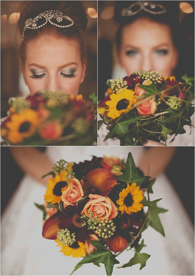 #Sunflower #rustic wedding bouquet ... Wedding ideas for brides, grooms, parents & planners ... https://itunes.apple.com/us/app/the-gold-wedding-planner/id498112599?ls=1=8 … plus how to organise an entire wedding, without overspending ♥ The Gold Wedding Planner iPhone App ♥ http://pinterest.com/groomsandbrides/boards/