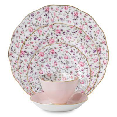 Royal Albert Rose Confetti Formal Vintage Dinnerware - BedBathandBeyond.com