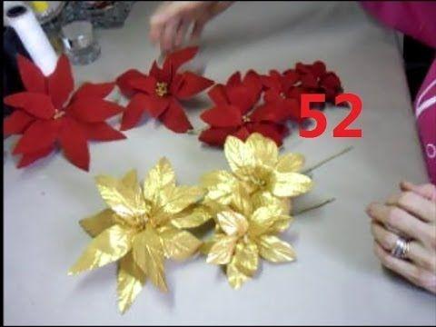 AULA 52: Flor de Natal de Veludo Vermelho (+playlist)