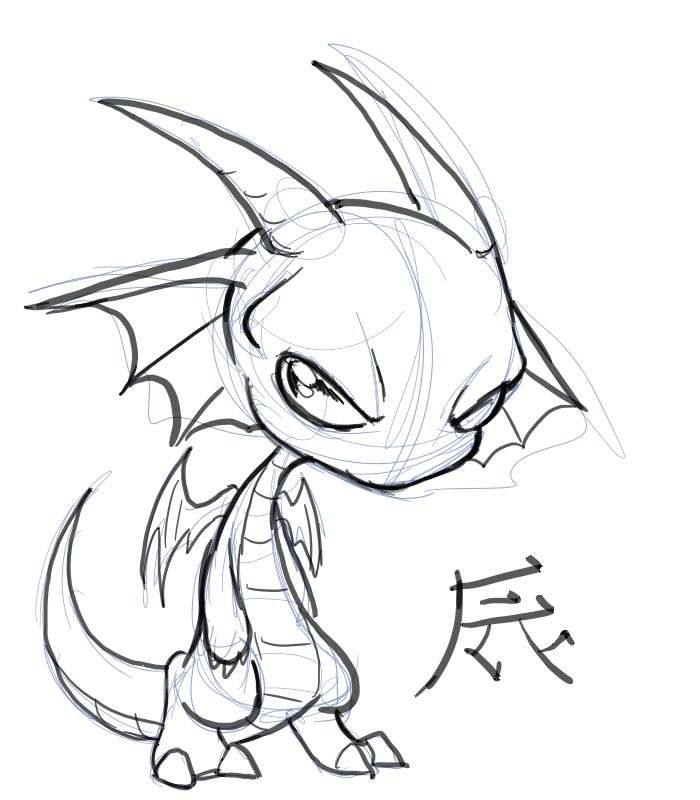 Chibi dragon chibi dragon by nocturnalmoth on deviantart for Small art drawings