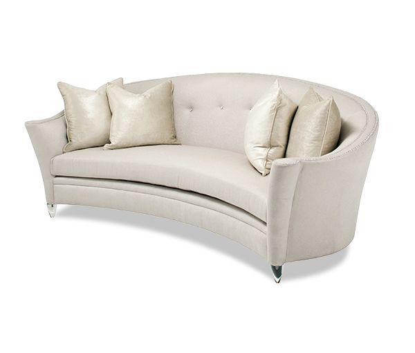 Bel Air Park Button Sofa Clear Bel Air Park  Michael Amini Furniture Designs   amini.com