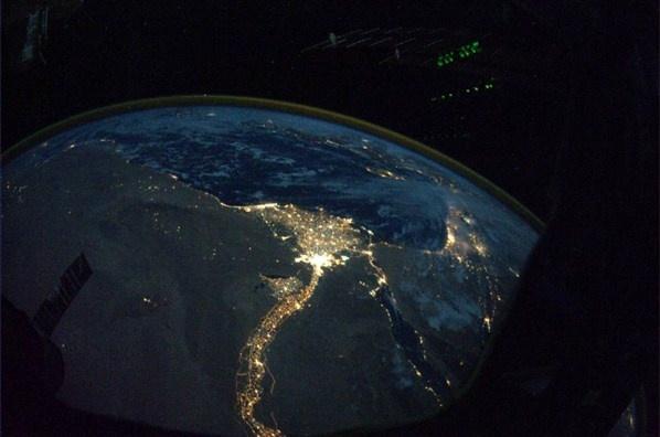 El Río Nilo (© @Astro_Wheels (Douglas H. Wheelock) / NASA)
