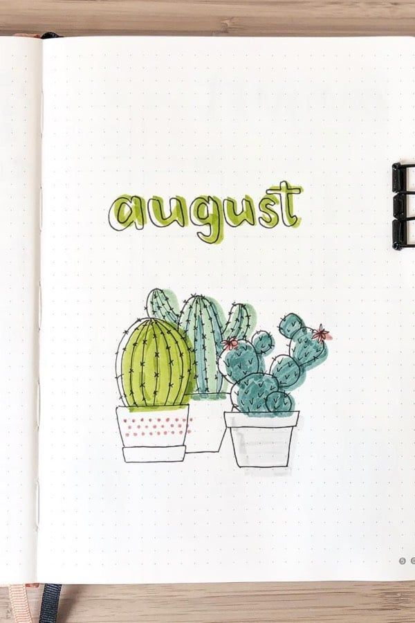 45 Best August Monthly Cover Ideas For Summer Bujos