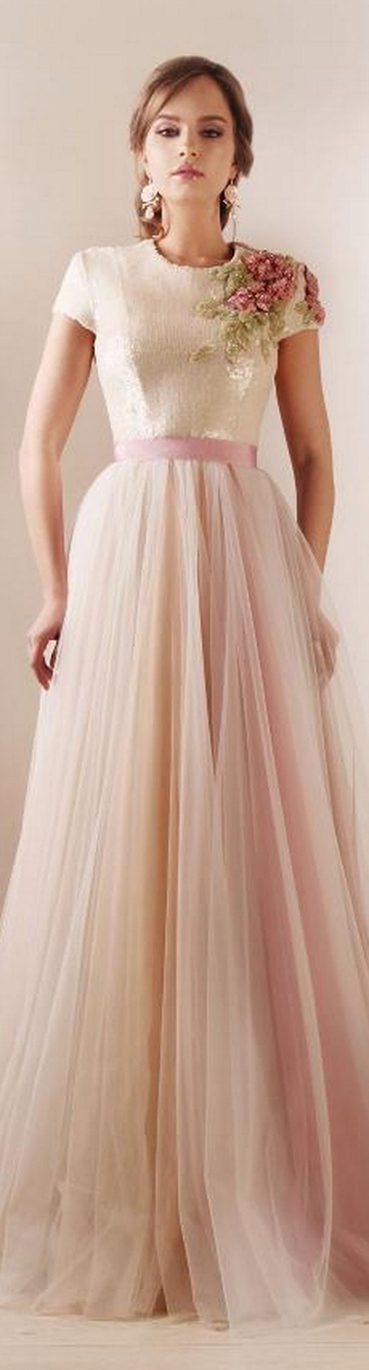 I think this would make a cute bridemaid dress <3 Rami Kadi Dress #josephine#vogel
