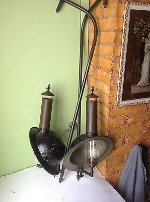 2 anciens lampes à gaz, XIXe siècle.  Napoleon III