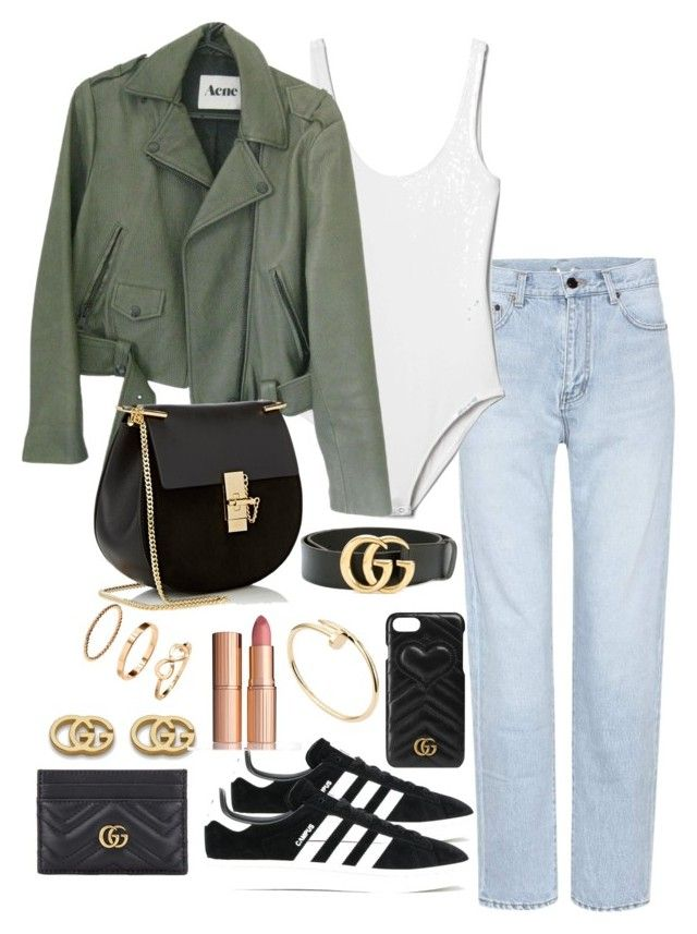 """Untitled #4297"" by theeuropeancloset on Polyvore featuring Yves Saint Laurent, Gap, Acne Studios, adidas Originals, Chloé, Gucci, H&M, Cartier and Charlotte Tilbury"