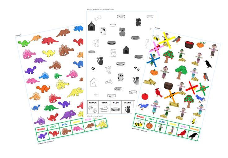 jeux d'observation pour la maternelle