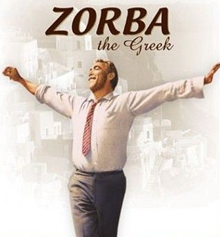 One of the greatest movies of all time. Released in 1964, and starring Anthony Quinn as Zorba, the movie won three Oscars. More: http://en.wikipedia.org/wiki/Zorba_the_Greek_(film)