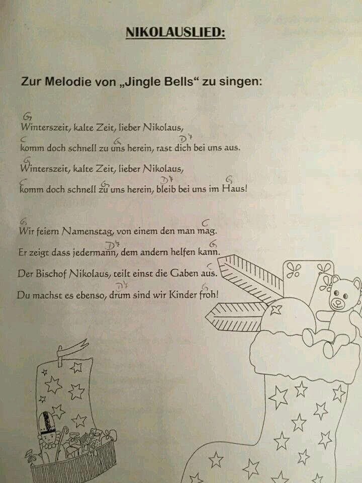nikolauslied nikolaus lieder kindergarten lieder und. Black Bedroom Furniture Sets. Home Design Ideas