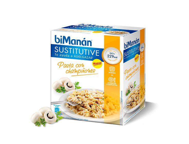 Pasta con Champiñones #biManánSustitutive