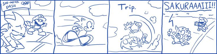 Brawl in the Family 061: Olympics. (What if Mario and Sonic at the Olympic Games worked like Brawl where the characters trip while running?)